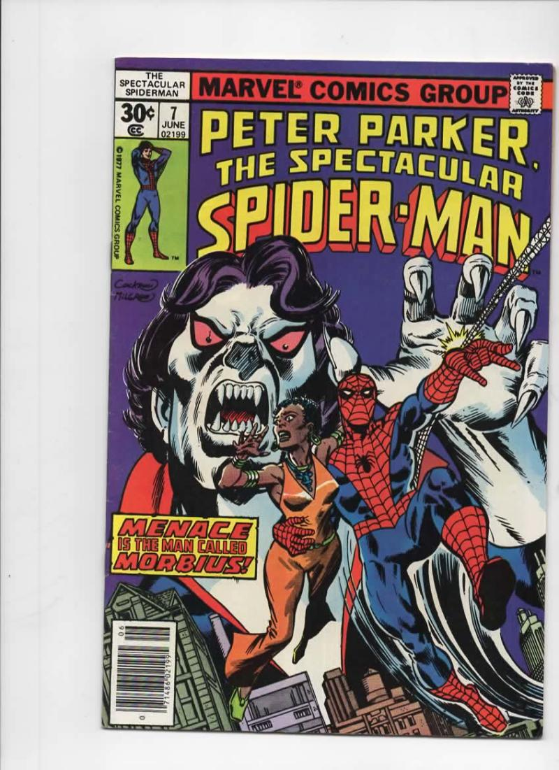 Peter Parker SPECTACULAR SPIDER-MAN #7 VF, Morbius 1976 1977 more in store