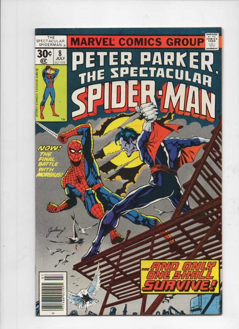 Peter Parker SPECTACULAR SPIDER-MAN #8 VF+, Morbius 1976 1977 more in store