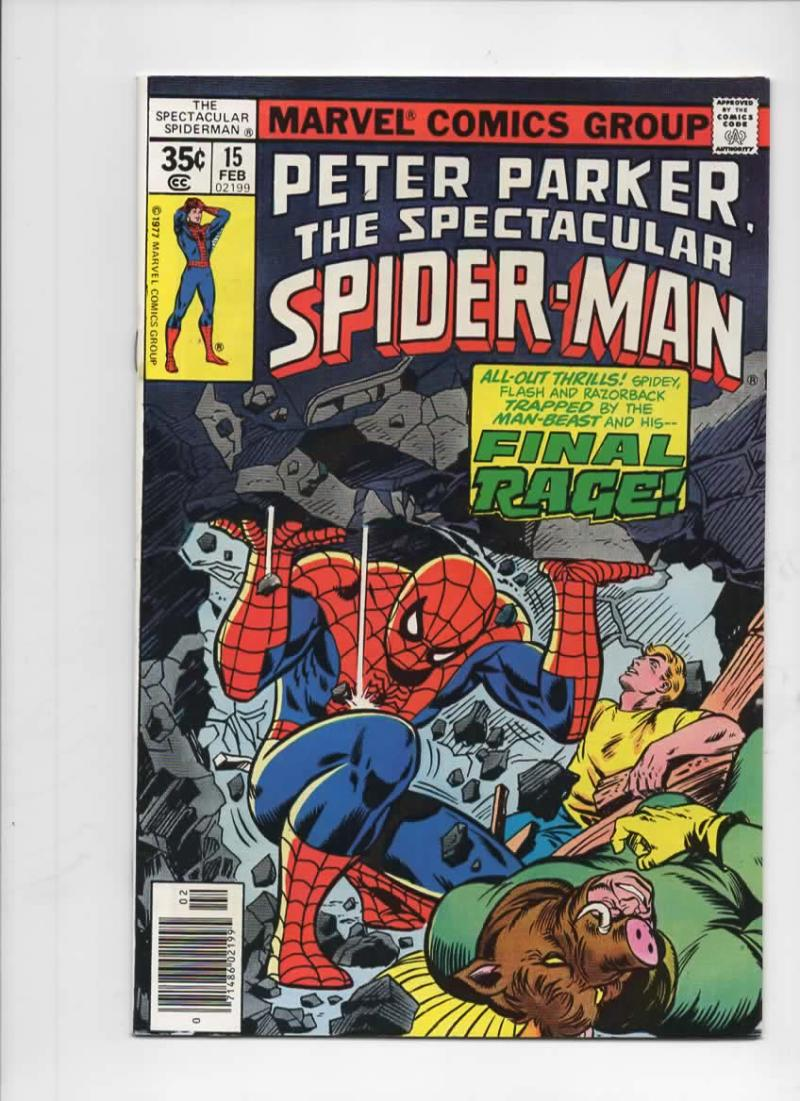 Peter Parker SPECTACULAR SPIDER-MAN #15 VF/NM, Final Rage 1976 1978 more in store
