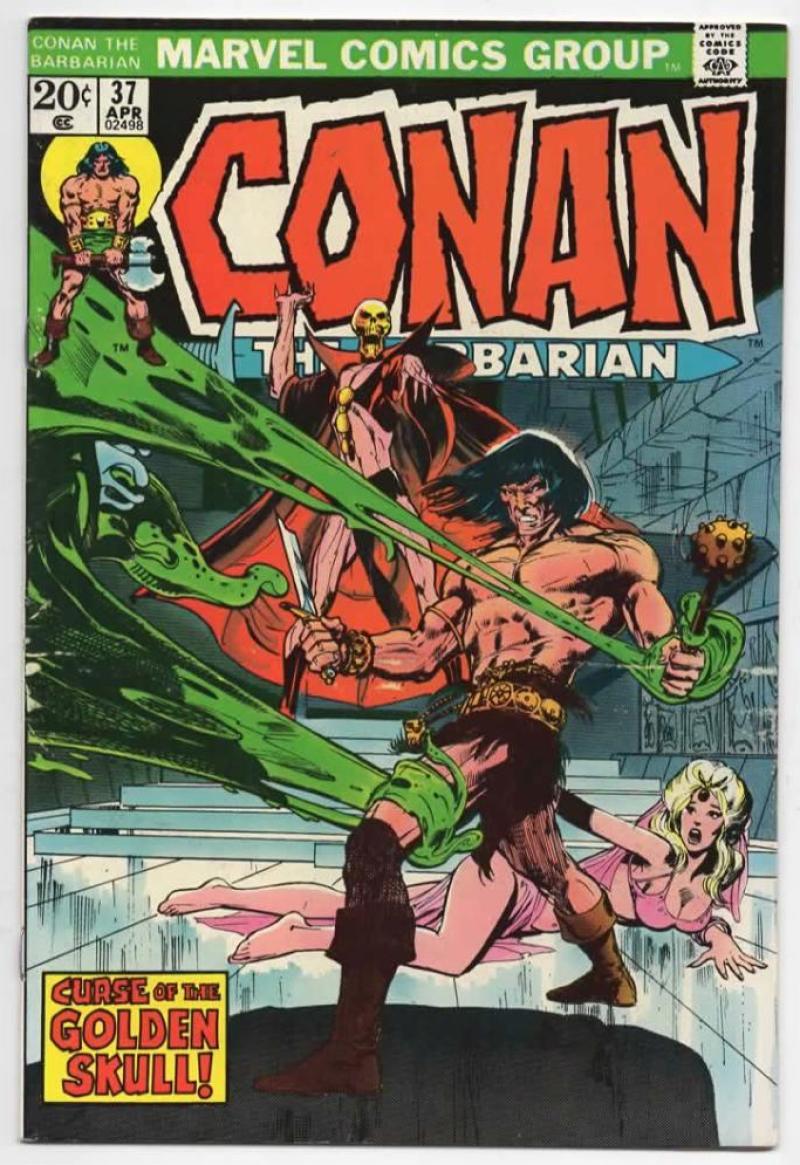 CONAN the BARBARIAN #37 FN, Neal Adams, Howard, 1970 1974