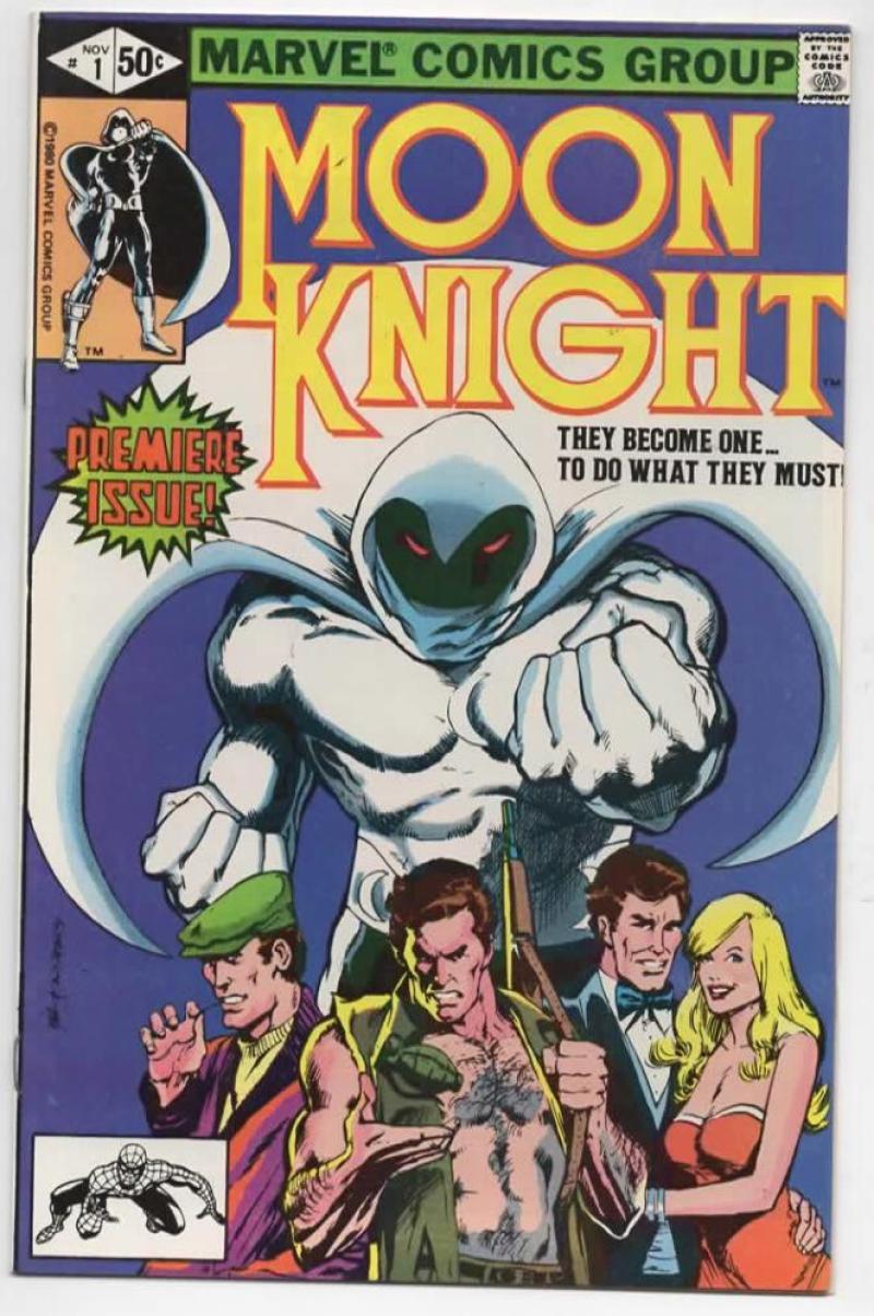 MOON KNIGHT #1, VF/NM, 1980, Bill Sienkiewicz, more Bronze & Marvel in store