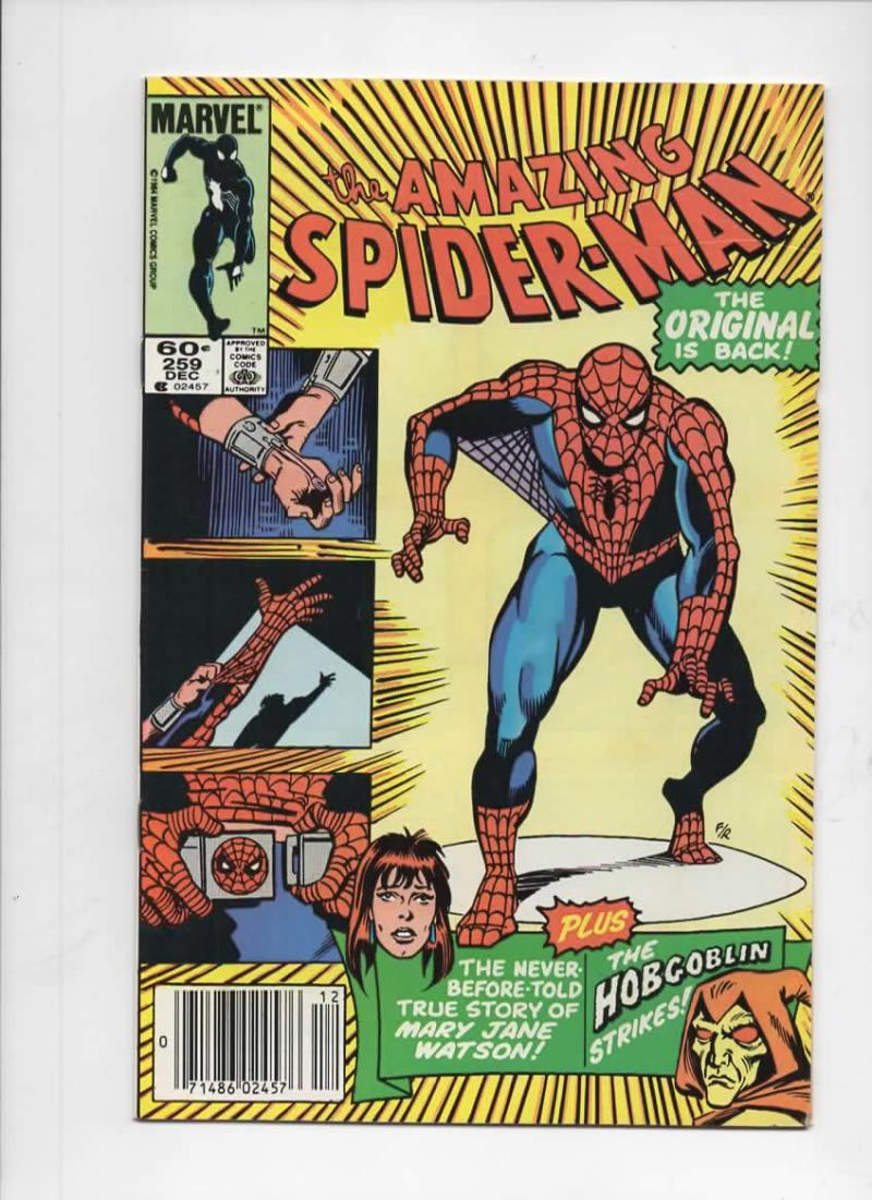 Amazing SPIDER-MAN #259, VF/NM, HobGoblin, MJ Origin, 1963, more ASM in store