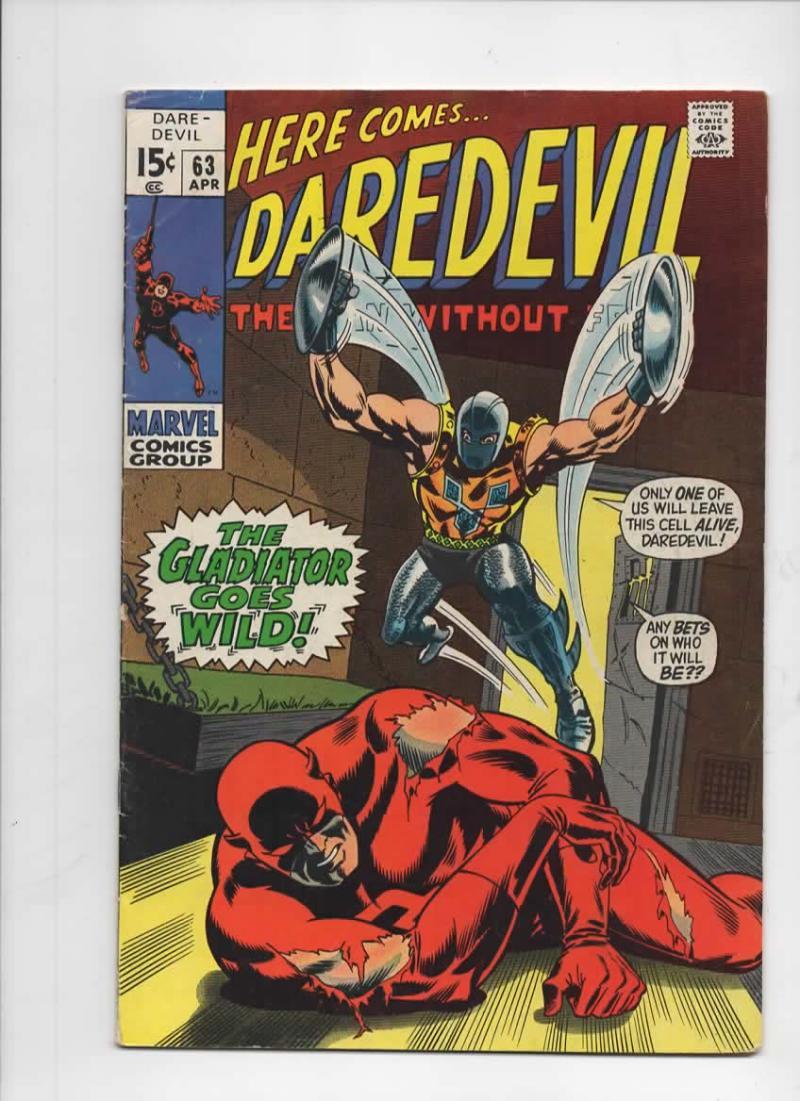 DAREDEVIL #63 VG/FN, Gene Colan, Murdock, Gladiator, 1964 1970, more Marvel in store