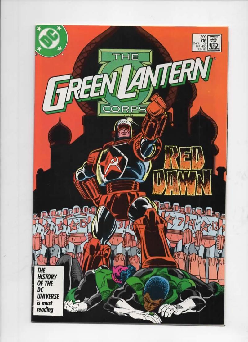 GREEN LANTERN #209, NM-,  Joe Staton, Corps, DC, 1960 1987 more in store, Red Dawn