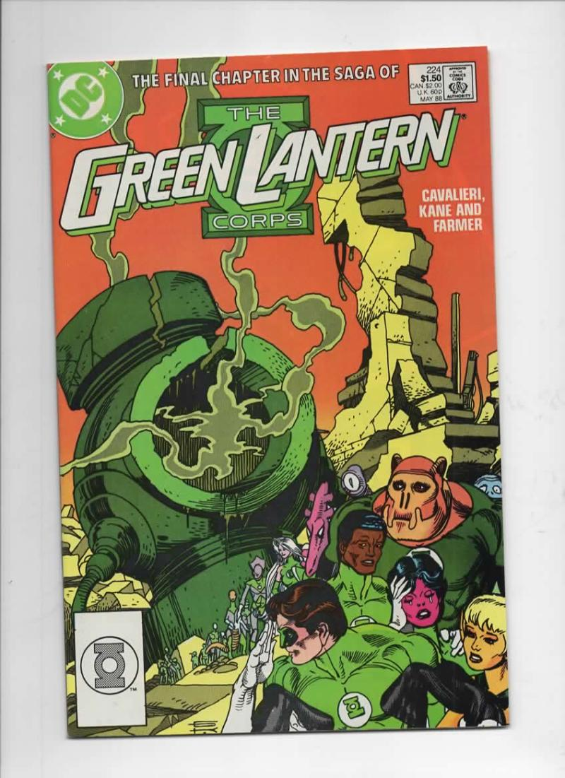 GREEN LANTERN #224, VF/NM,  Gil Kane, Corps, DC, 1960 1988 more in store