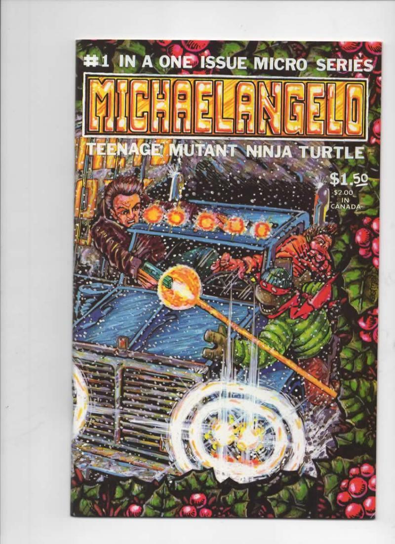 Michaelangelo Micro Series TEENAGE MUTANT NINJA TURTLES #1, NM-, 1985, Xmas