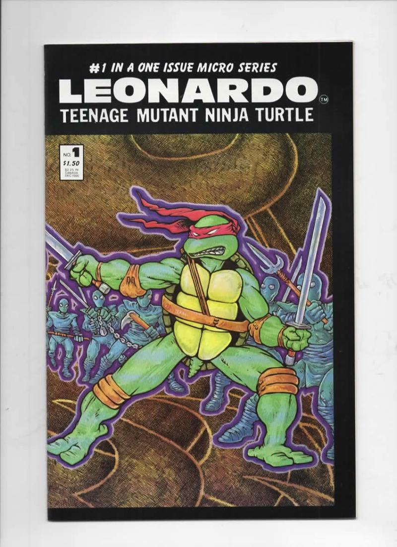 Leonardo Micro Series TEENAGE MUTANT NINJA TURTLES #1, VF/NM, 1986, Eastman, 1st