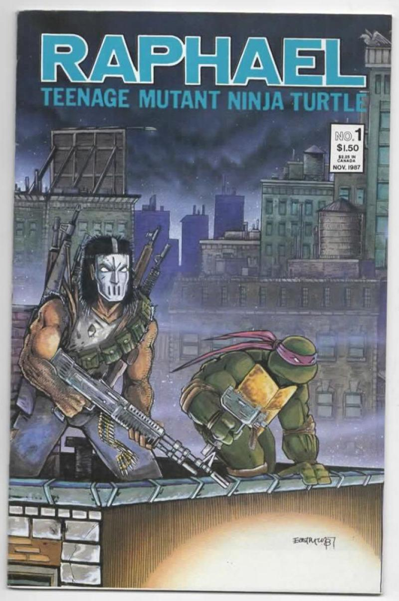 RAPHAEL TEENAGE MUTANT NINJA TURTLES #1, VF, Kevin Eastman, 1987 2nd