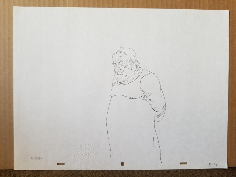 HEAVY METAL Original Production ART, stamped with imprint, Elder in thought,1981
