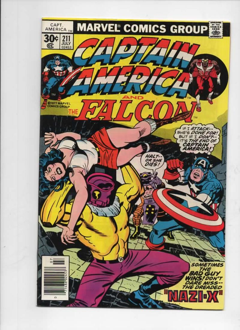 CAPTAIN AMERICA #211, VF/NM, Jack Kirby, Nazi - X, 1968 1977, more CA in store