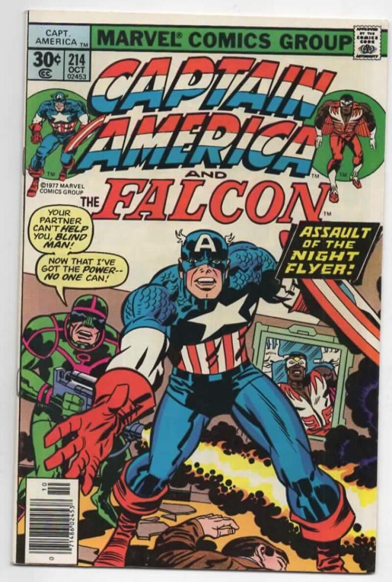 CAPTAIN AMERICA #214, VF, Jack Kirby, Falcon, 1968 1977, more CA in store