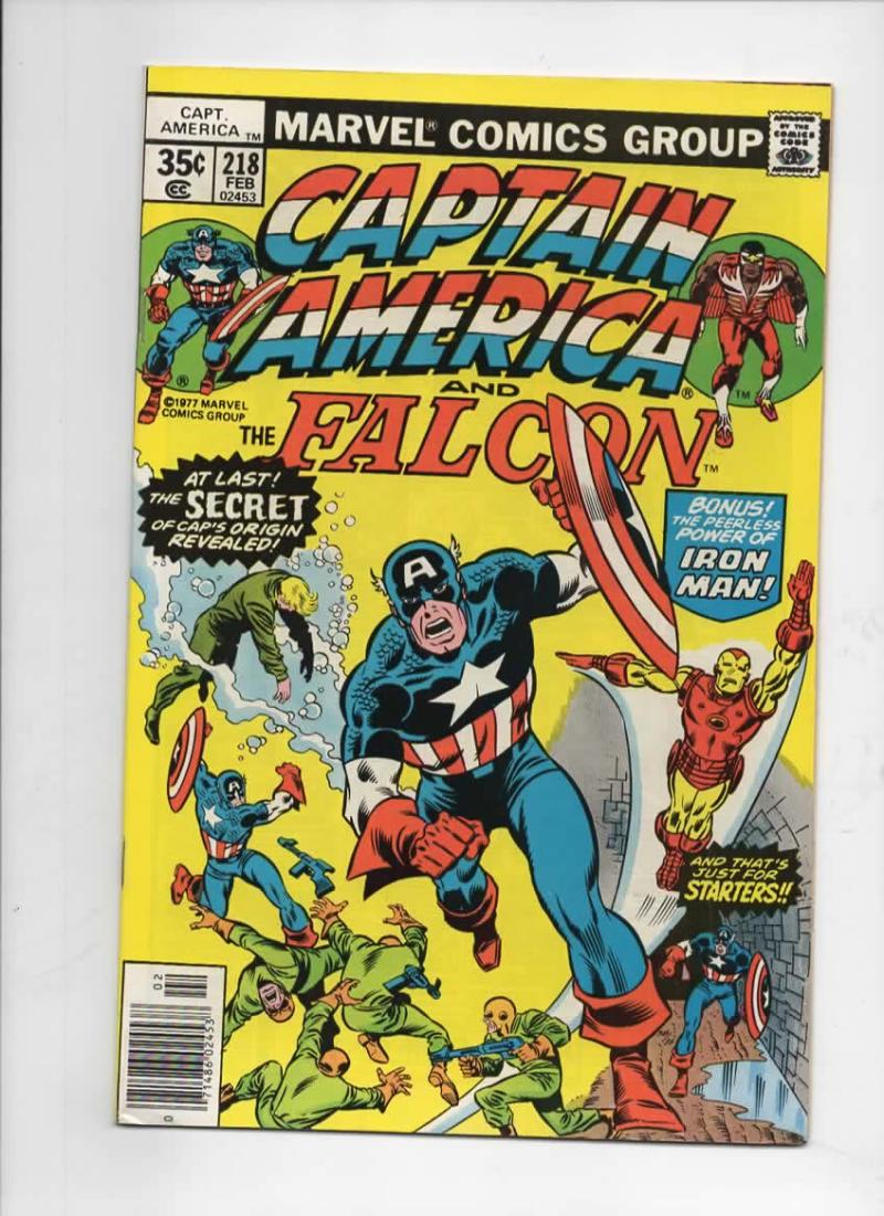 CAPTAIN AMERICA #218, VF+, Iron Man 1968 1977, more CA in store