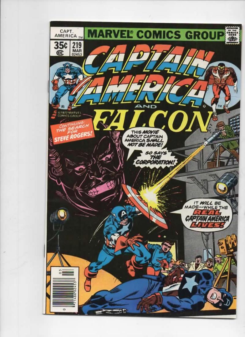 CAPTAIN AMERICA #219, NM-, Sinnot, Falcon, 1968 1978, more CA in store