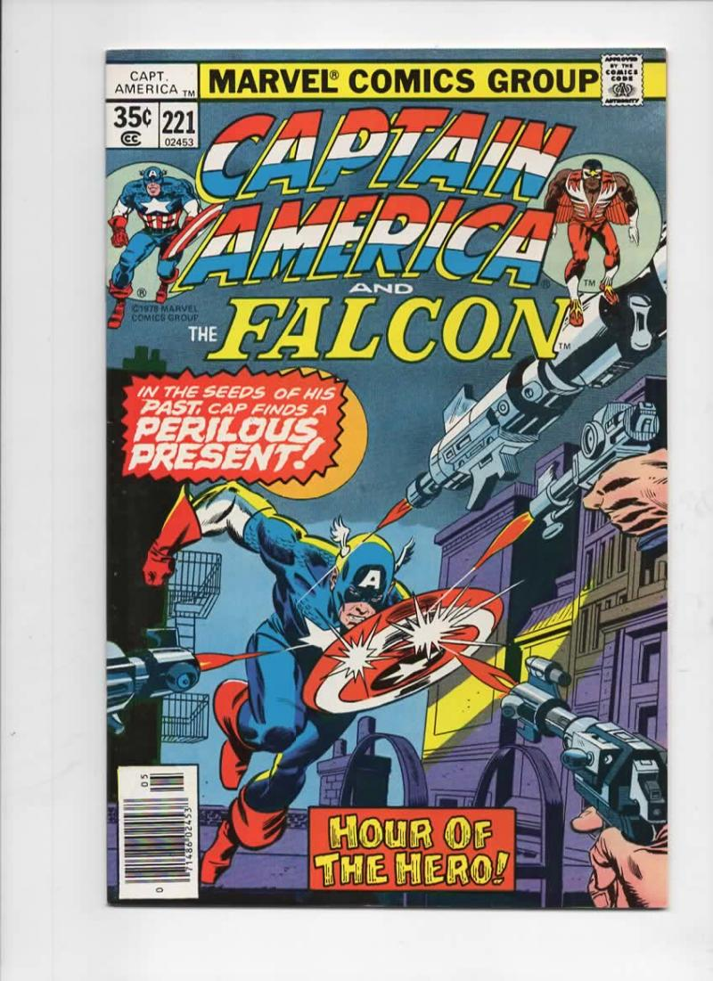 CAPTAIN AMERICA #221, NM-, vs Ameridroid, 1968 1978, more CA in store