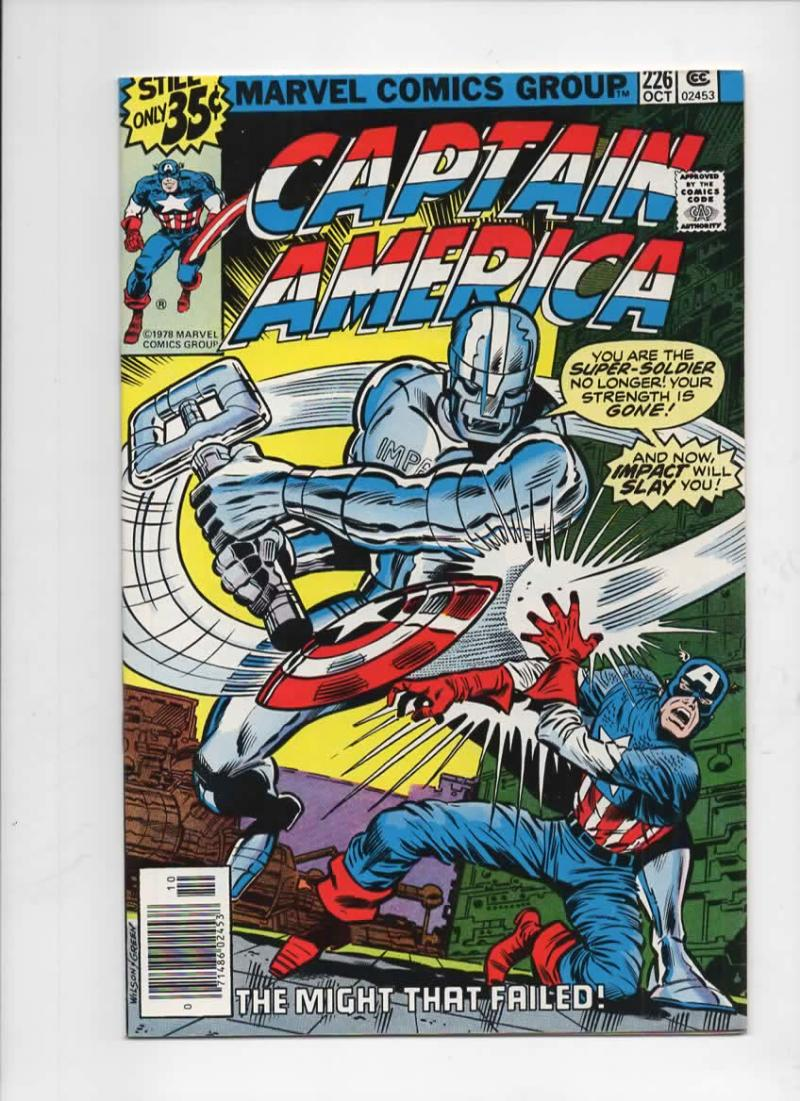 CAPTAIN AMERICA #226, NM, Impact, Buscema 1968 1978, more CA in store