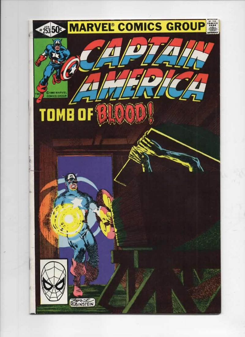 CAPTAIN AMERICA #253, VF+, Union Jack Byrne 1968 1981, more CA in store