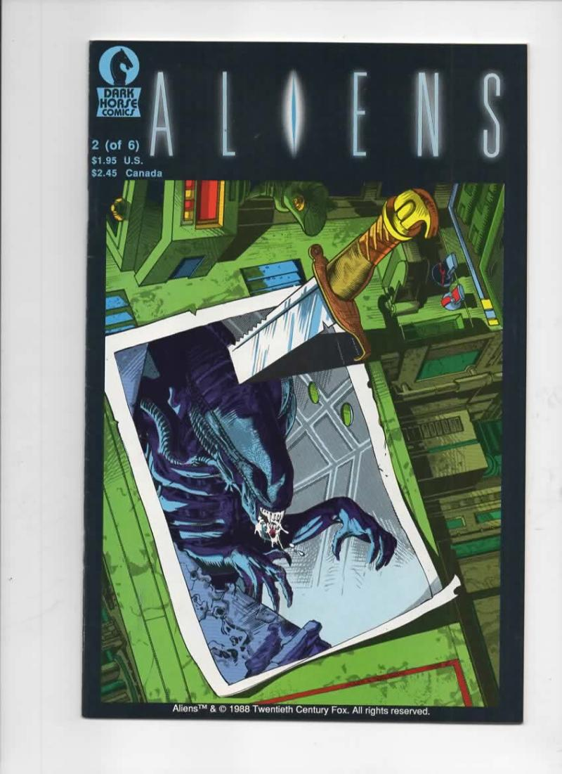 ALIENS #2, VF+, Mark Verheiden, Mark Nelson, 1988, 1st, more Horror in store