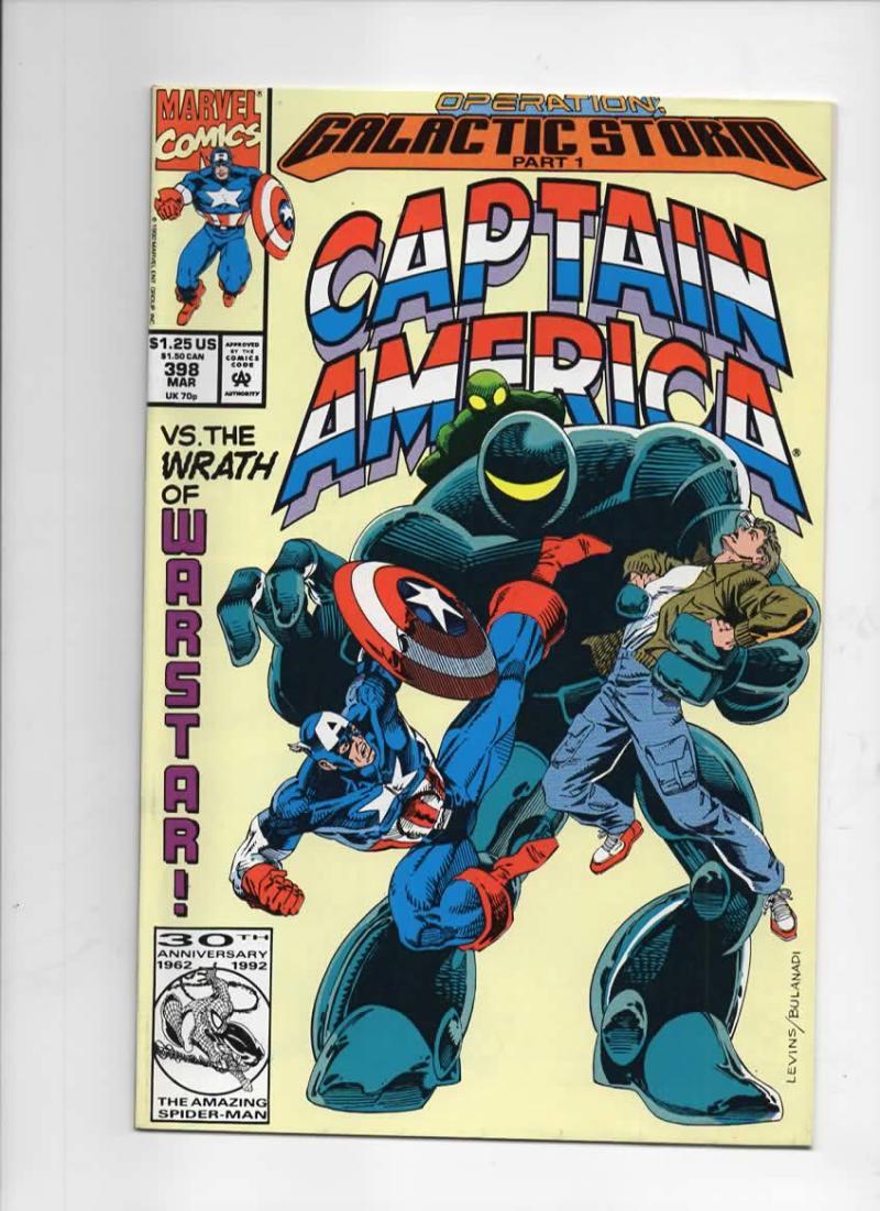 CAPTAIN AMERICA #398, NM, WarStar, Galactic, Marvel 1968 1992, more CA in store