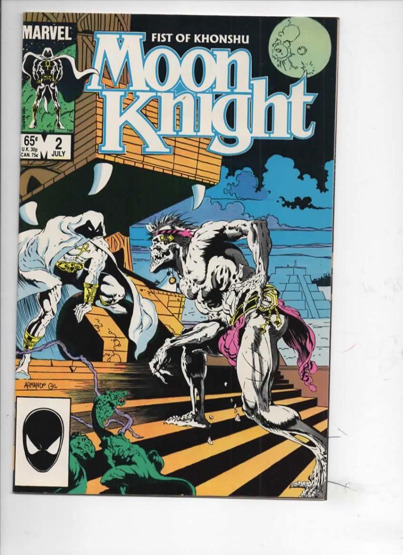 MOON KNIGHT Fist of Khonshu #2 VF/NM Deadly 1985  Marvel