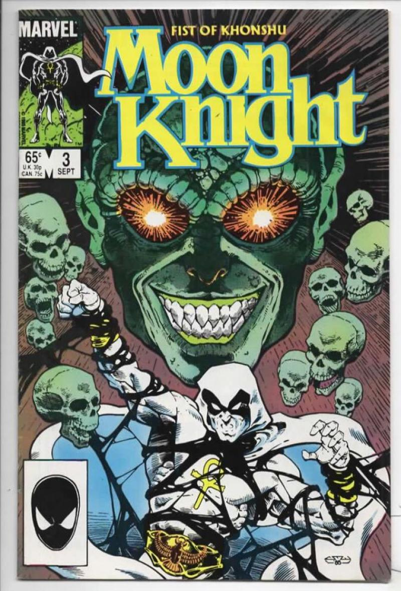MOON KNIGHT Fist of Khonshu #3 VF Madness 1985 Marvel