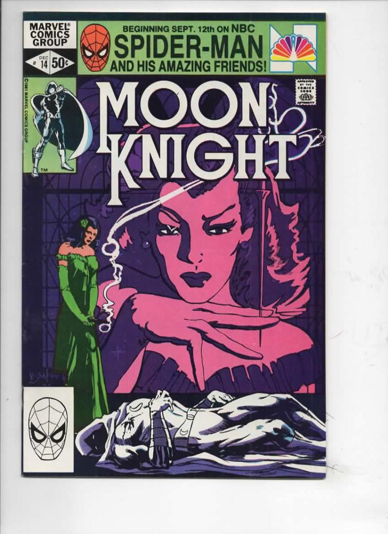 MOON KNIGHT #14, FN/VF, 1980 1981, Sienkiewicz, Stained Glass Scarlet, more Bronze & Marvel in store