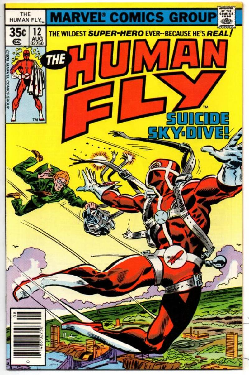 HUMAN FLY #12, VF/NM, Sky Dive, 1977 1978, Bronze age, more Marvel in store