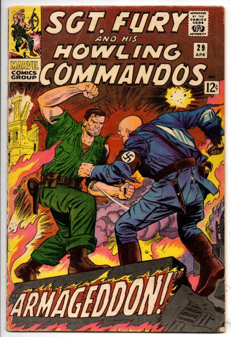 SGT FURY #29, VG+, Hitler, Germans, Baron Strucker, 1963 1966