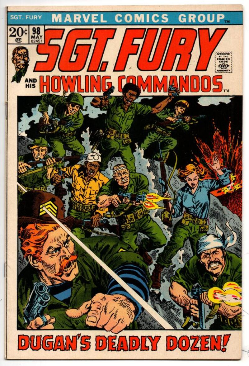SGT FURY #98, VF, Deadly Dozen, WWII,  Dick Ayers, Germans, 1963 1972