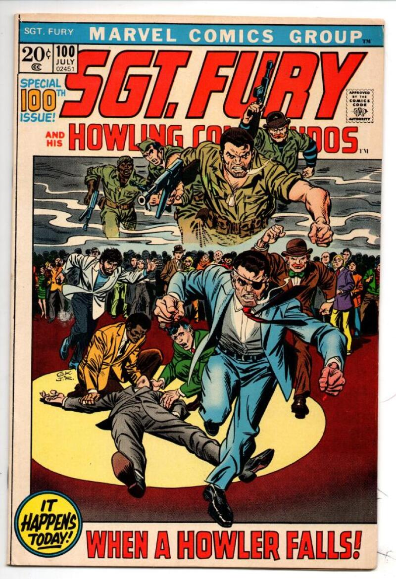 SGT FURY #100, VF, Howling Commandos, WWII,  Dick Ayers, Germans, 1963 1972