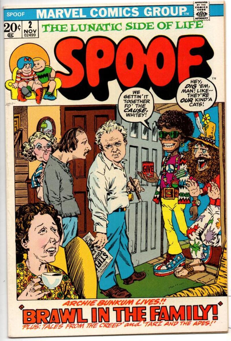 SPOOF #2, FN/VF, All in the Family, Archie Bunker, Tarzan, Creep, 1972, Marvel
