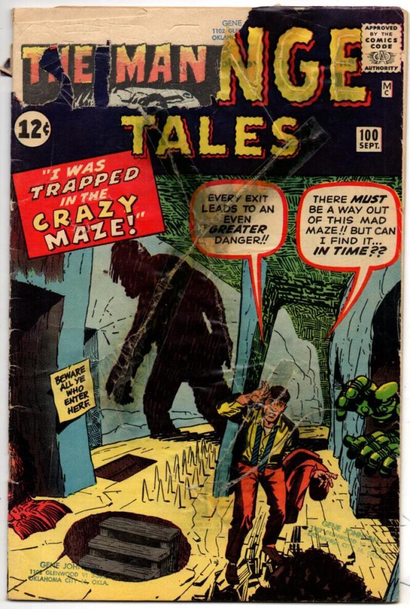 STRANGE TALES 100, FAIR, Jack Kirby, Steve Ditko, Atomic Explosion, 1962