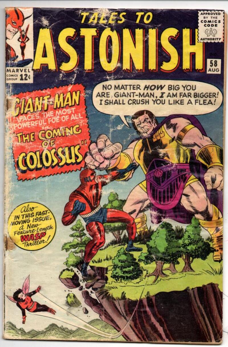 TALES TO ASTONISH #58, GOOD-, Wasp Giant-Man, Colossue, Ayers, 1964