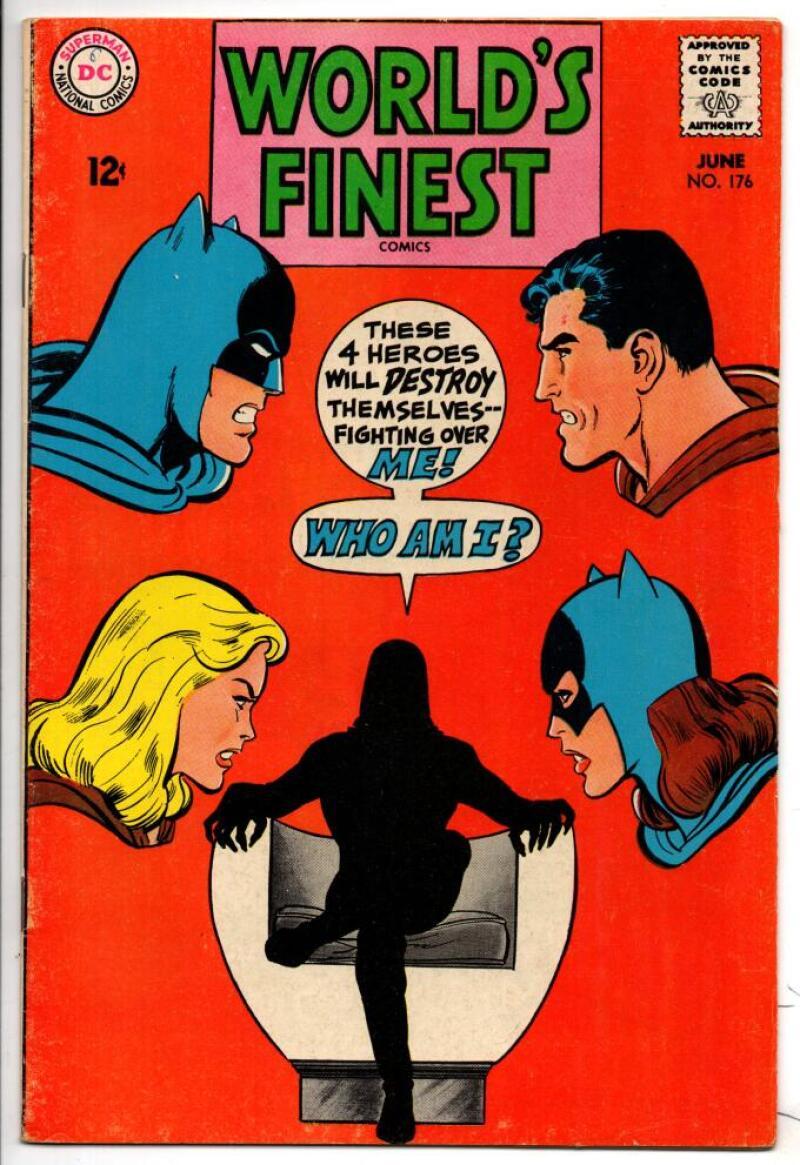 WORLD'S FINEST #176, FN+, Batman, Superman, Neal Adams, 1941 1968, more in store