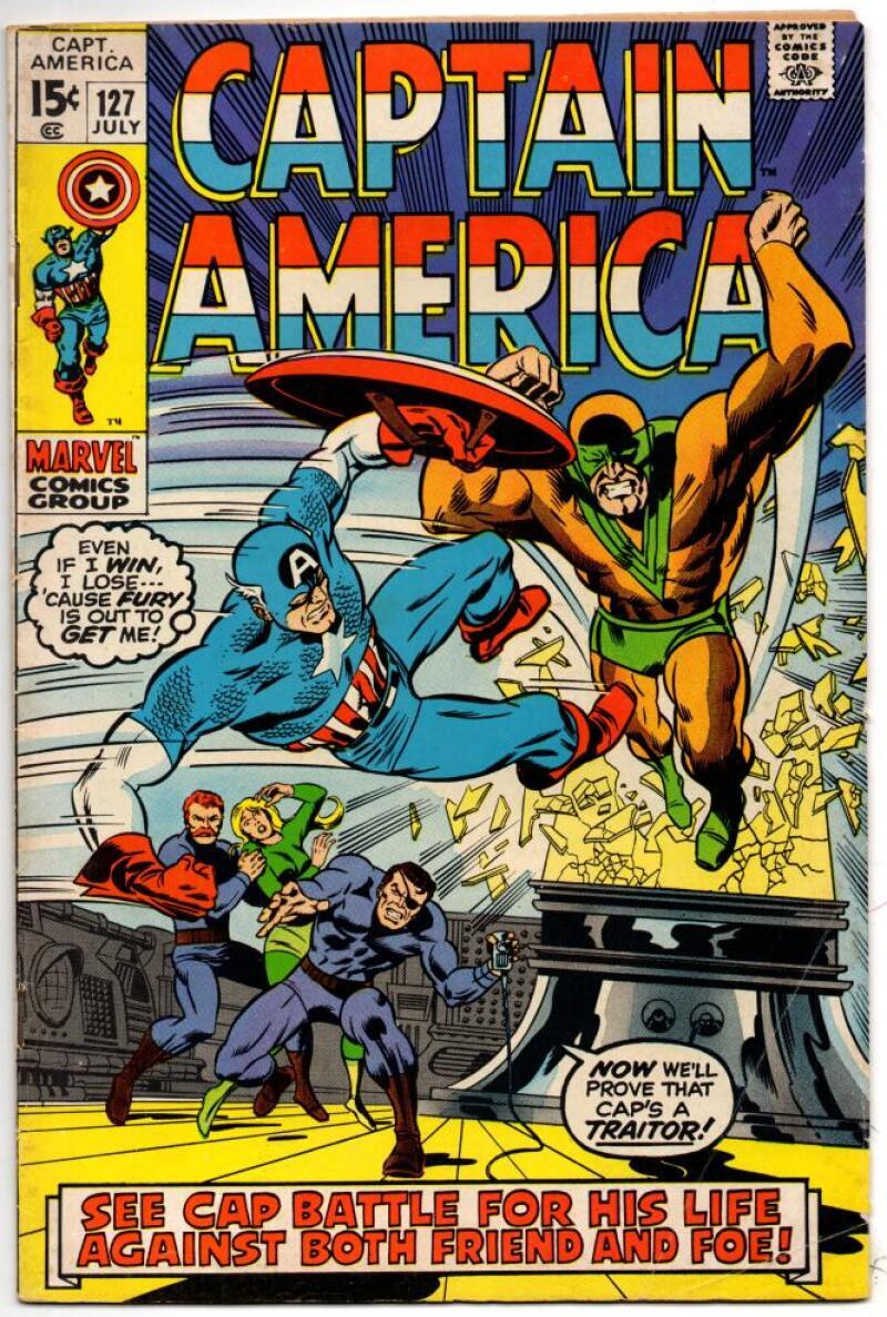 CAPTAIN AMERICA #127, FN, Nick Fury, 1968 1970, more  CA in store