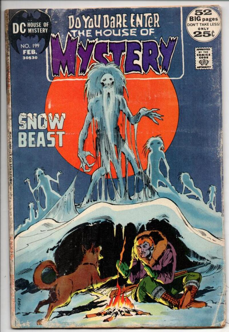HOUSE of MYSTERY #199, VG, Neal Adams, Jack Kirby, Wally Wood, more in store