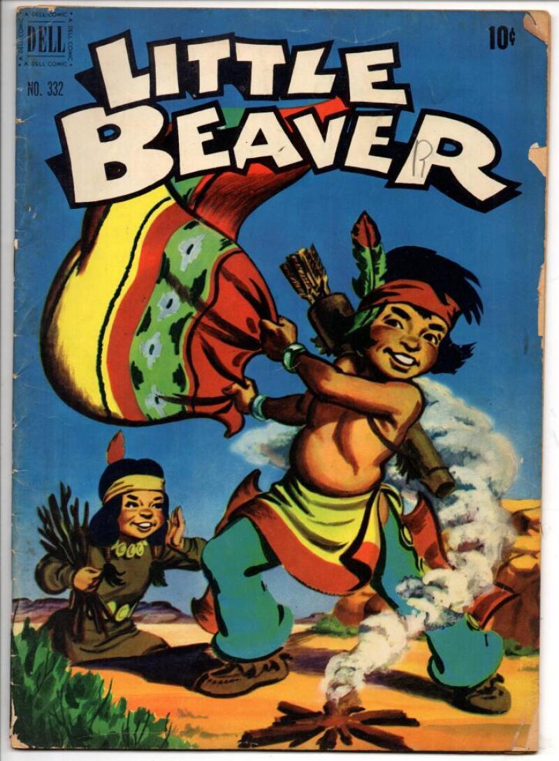LITTLE BEAVER #332, VG, Dell, 1951, Indians, Golden age