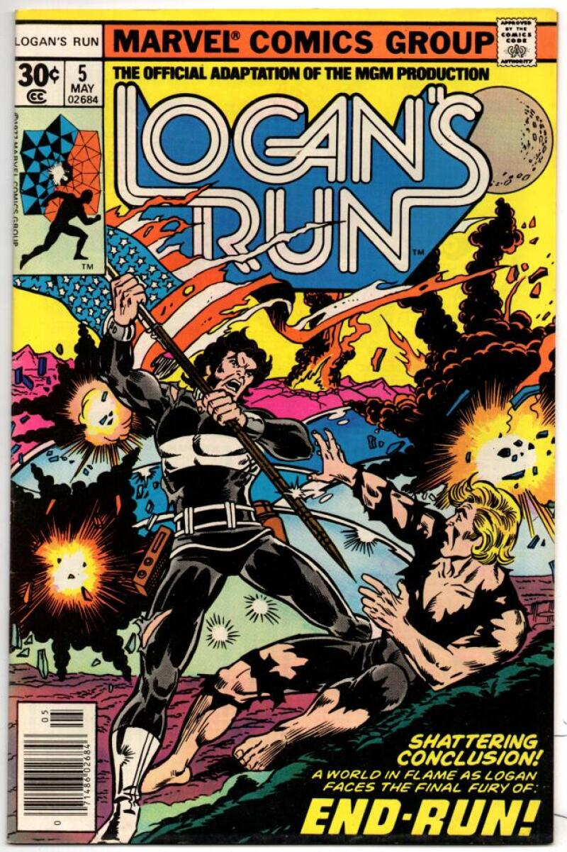 LOGAN'S RUN #5, VF/NM, Movie Adaption, George Perez, 1977, Bronze age