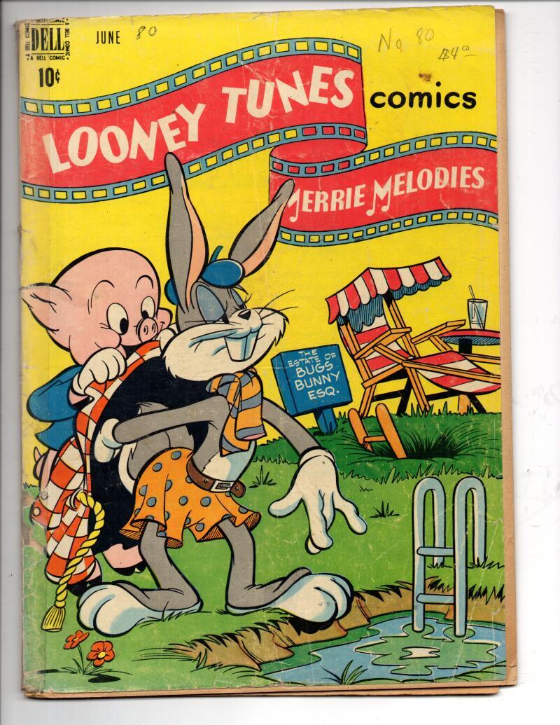 LOONEY TUNES #80, GD, Bugs Bunny, 1948, Porky Pig, Elmer