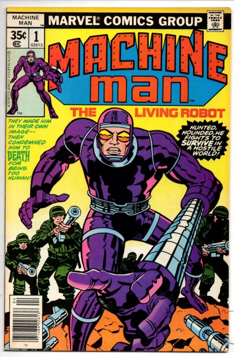 MACHINE MAN #1, VF+, Jack Kirby, Living Robot, 1978, more in store
