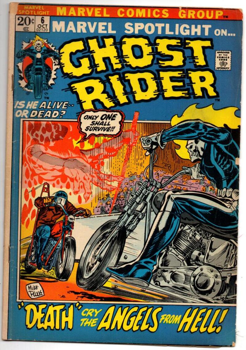 MARVEL SPOTLIGHT #6, VG, Ghost Rider, Mike Ploog, 1971, more GR  in store