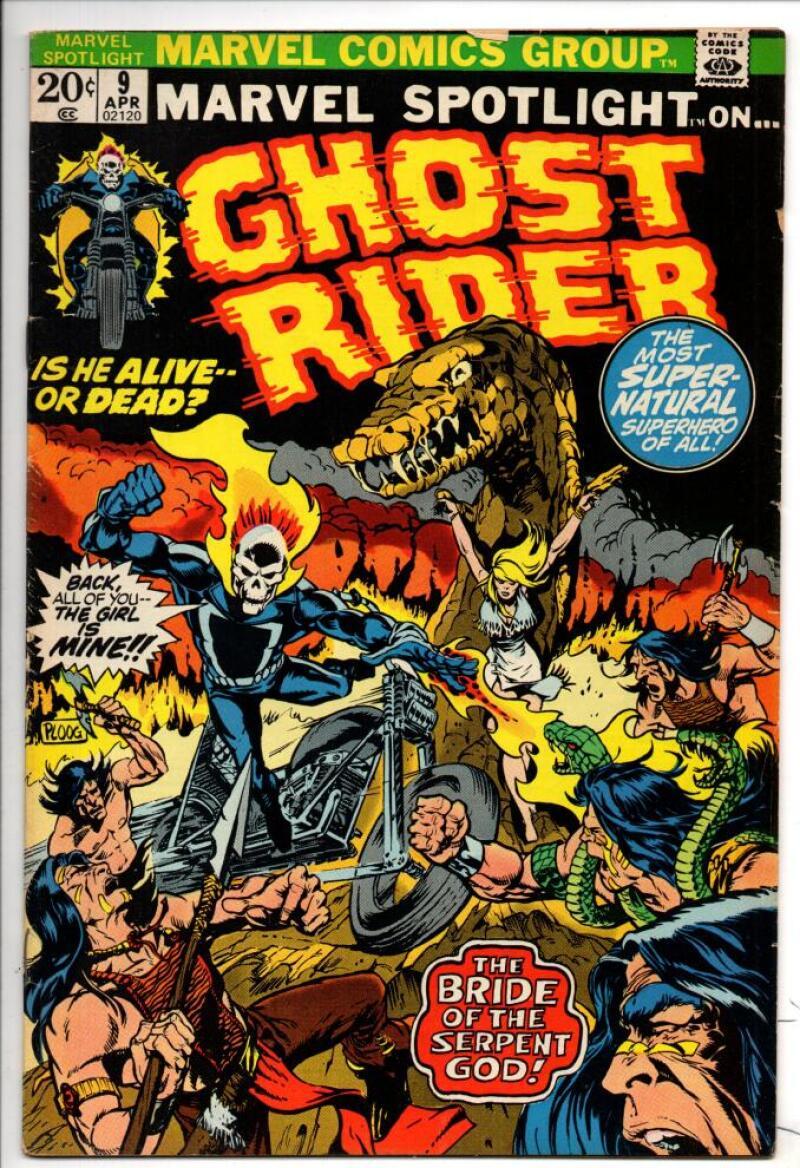 MARVEL SPOTLIGHT #9, VF, Ghost Rider, Mike Ploog, 1971 1973, more GR  in store