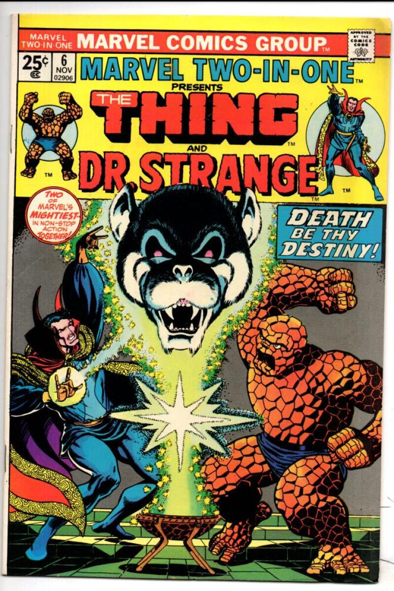 MARVEL TWO-IN-ONE #6, VF, Thing, Dr Strange, 1974, George Tuska
