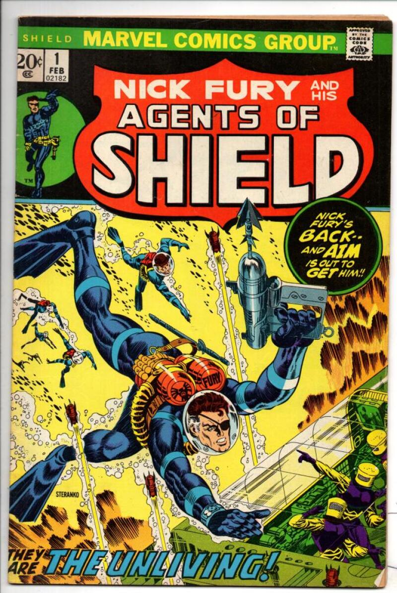 NICK FURY and his AGENT of SHIELD #1, VF, Jim Steranko, 1973, Jack Kirby