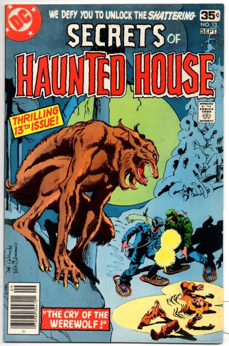 SECRETS of HAUNTED HOUSE #13, VF/NM, Werewolf, horror, 1978 DC