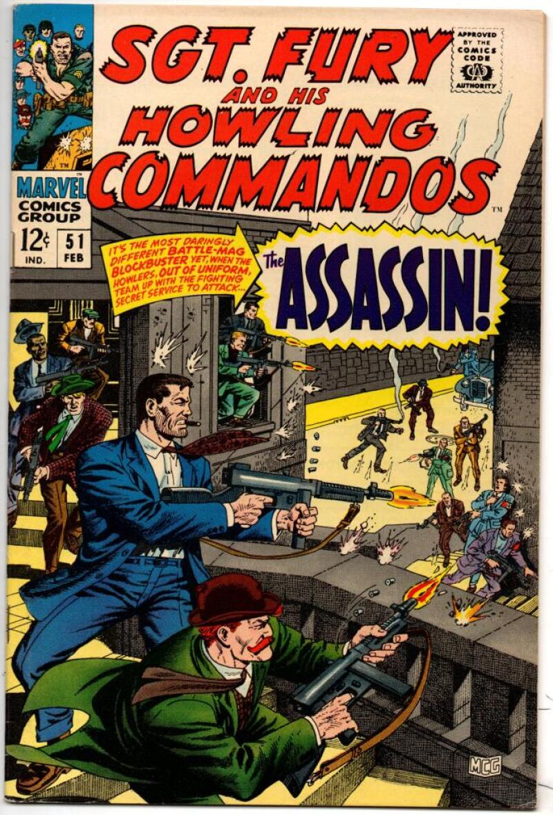 SGT FURY #51, VF+, War, WWII, Severin Ayers, Assassin, 1963 1968