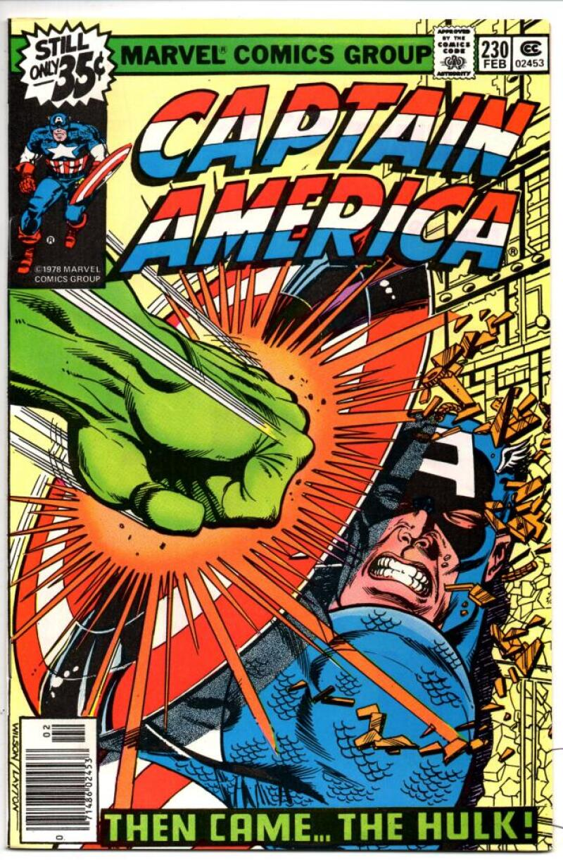CAPTAIN AMERICA #230, VF/NM, vs the HULK 1968 1978, more CA in store