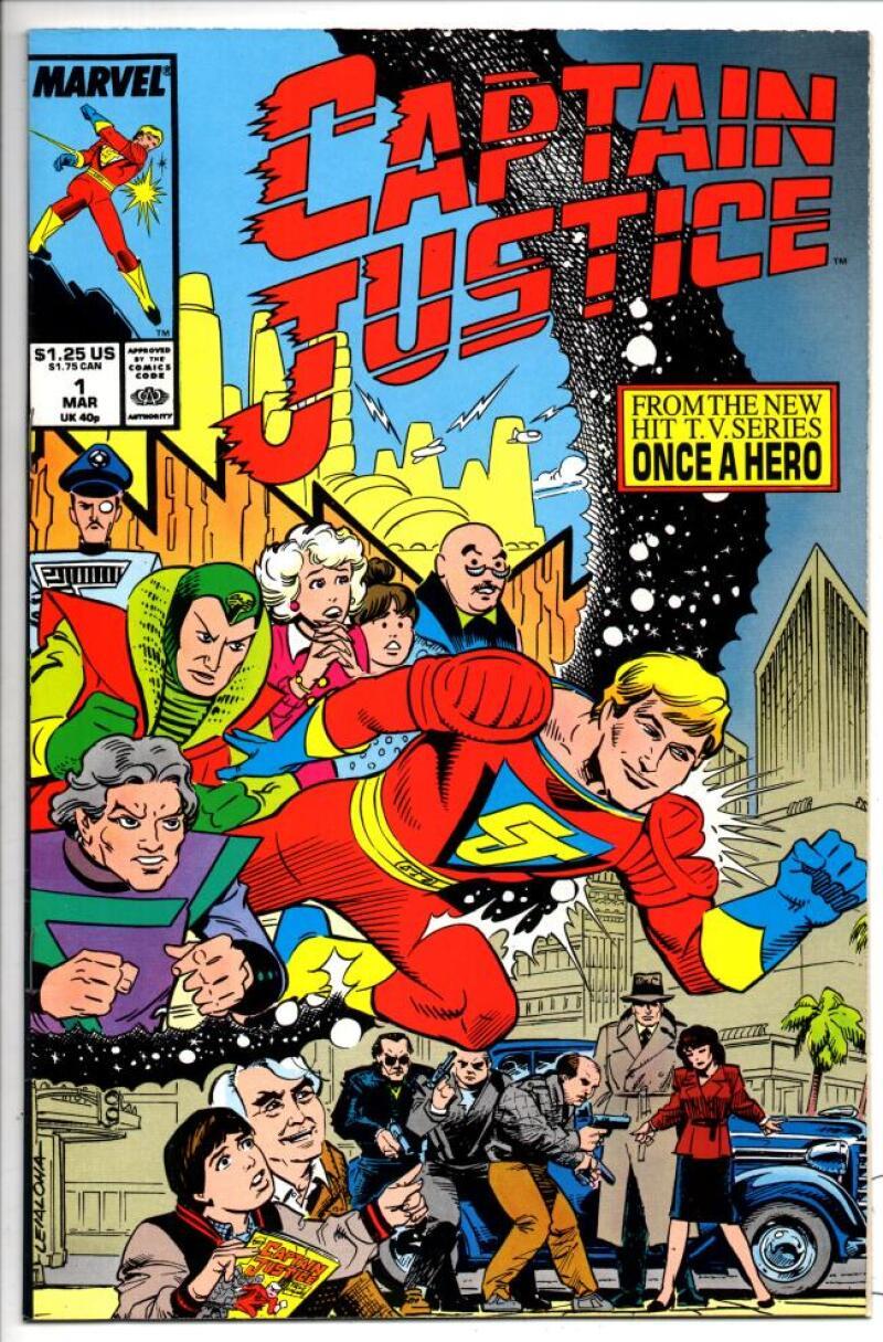 CAPTAIN JUSTICE #1, VF/NM, TV Series, 1988, Marvel