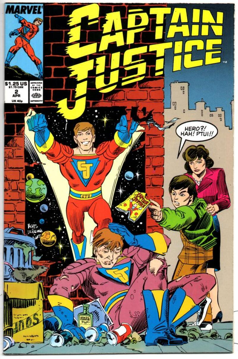 CAPTAIN JUSTICE #2, VF/NM, TV Series, 1988, Marvel