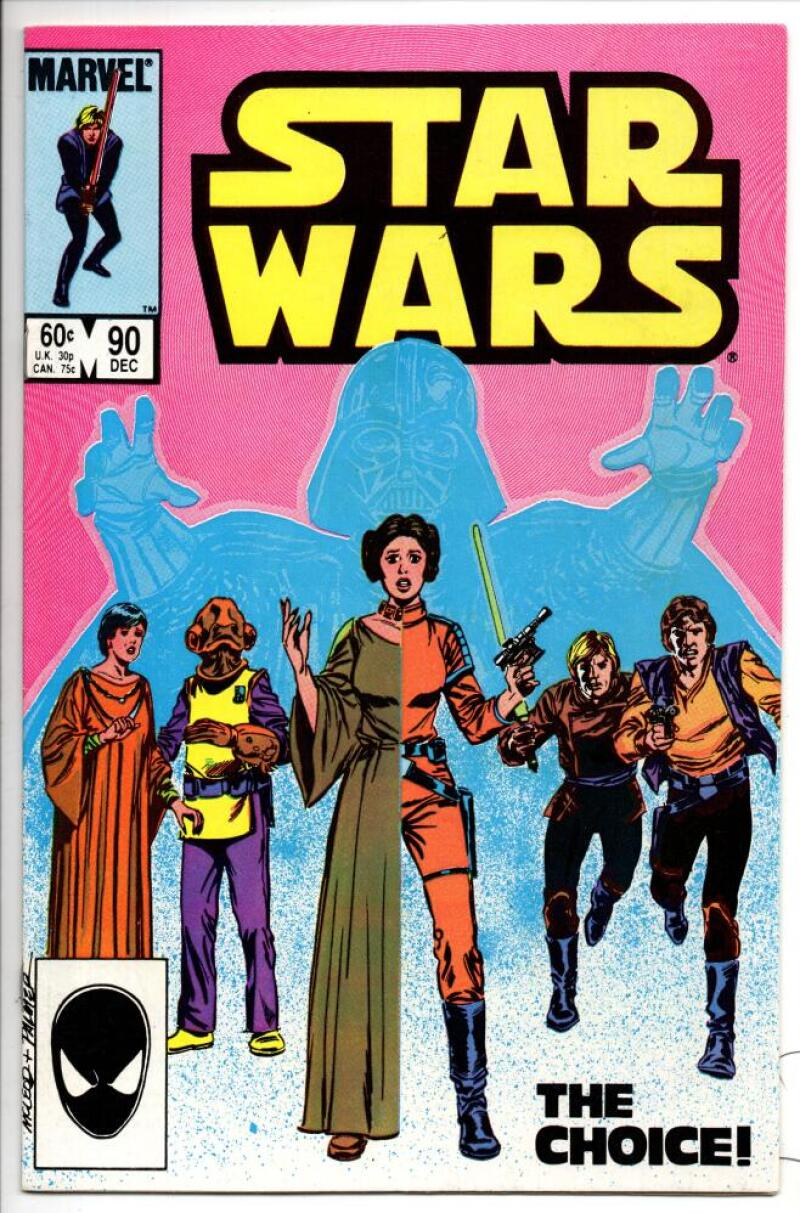 STAR WARS #90, VF/NM, Luke Skywalker, Darth Vader, 1977 1984, more SW in store