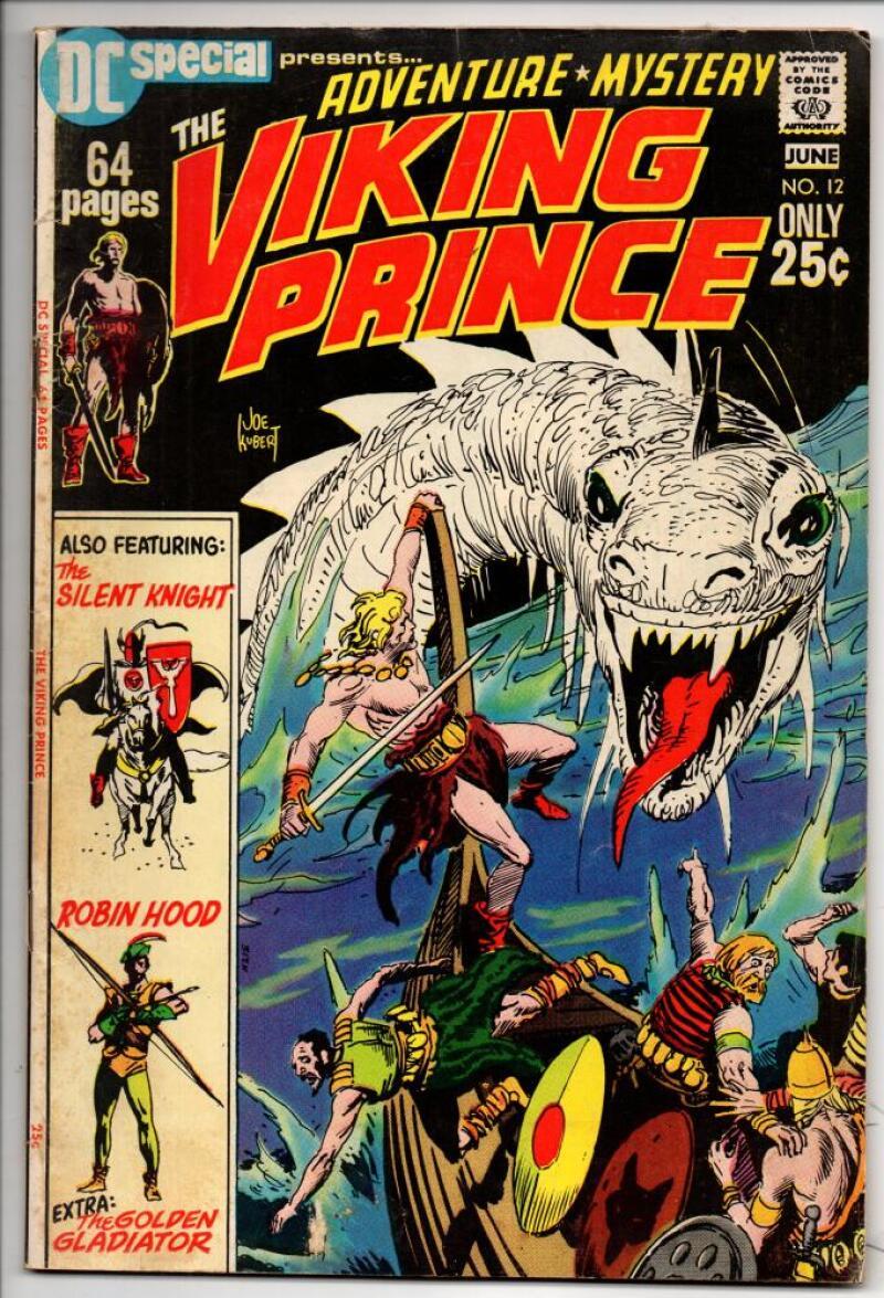DC SPECIAL #12, FN+,Viking Prince Joe Kubert,  1971, Knight Robin Hood Gladiator